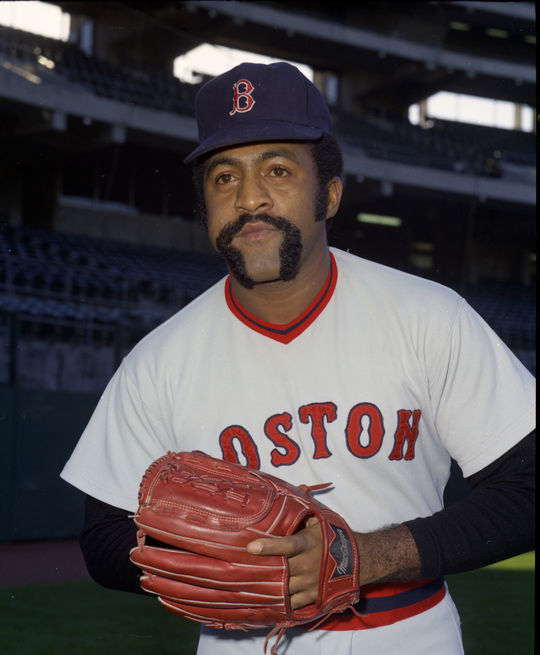 Luis Tiant of the Boston Red Sox - BL-73-547 (Doug McWilliams/National Baseball Hall of Fame Library)