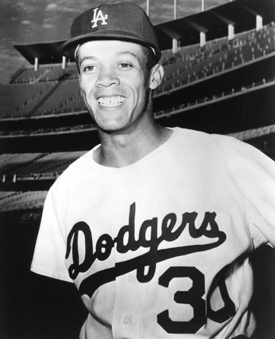 Maury Wills of the Los Angeles Dodgers - BL-505-64b (National Baseball Hall of Fame Library)