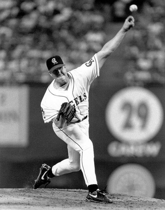 Pitcher Jim Abbott played for the California Angels for six seasons of his 10-year career. (National Baseball Hall of Fame and Museum)