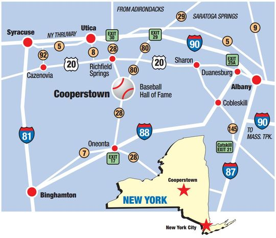 Central New York State map