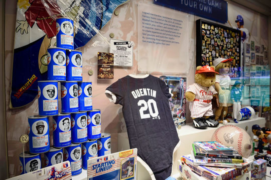 "Just a handful of the popular culture artifacts in the ""Whole New Ballgame"" exhibit. (Mitch Wojnarowicz/National Baseball Hall of Fame and Museum)"