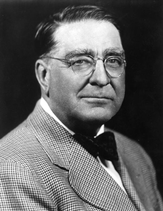 While Branch Rickey invented the modern farm system and the batting helmet, his most notable contribution to the game of baseball came when he broke the color barrier by bringing up Jackie Robinson to the Brooklyn Dodgers in 1947. (National Baseball Hall of Fame and Museum)