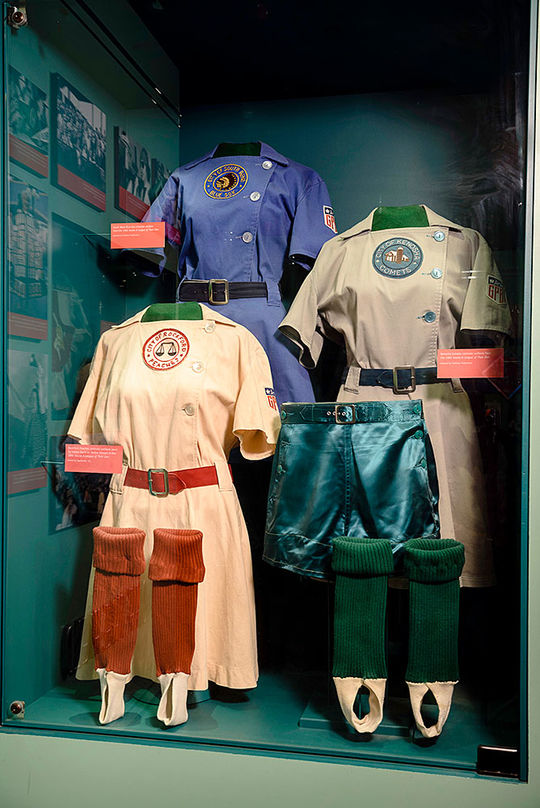 Women stepped up to the plate as World War II depleted much Major League talent. (Mitch Wojnarowicz/National Baseball Hall of Fame and Museum)