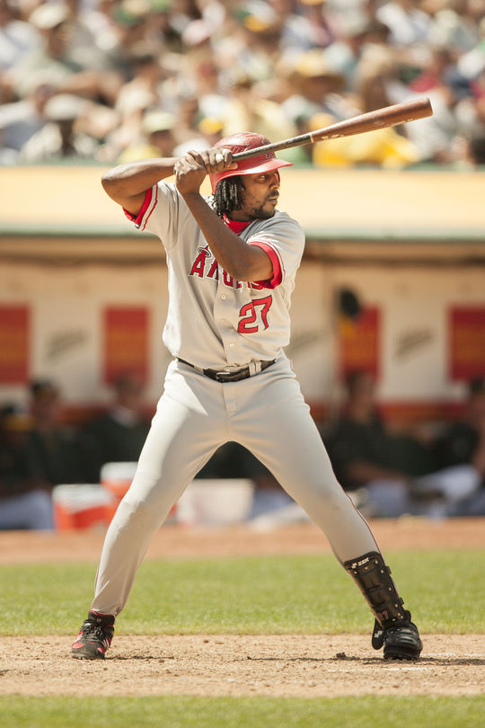 Vladimir Guerrero played for the Los Angeles Angels from 2004-2009. (Jean Fruth/National Baseball Hall of Fame and Museum)