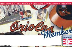 Orioles Membership Card