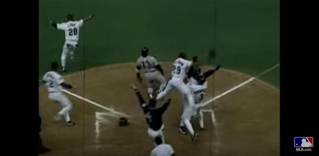 1995 ALDS Game 5: Griffey scores the game-winning run