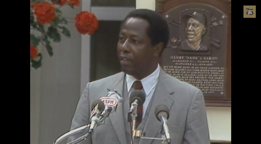 Hank Aaron 1982 Hall of Fame Induction Speech, 7:00