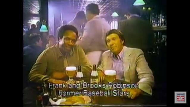 Baseball Players in Commericals - Frank and Brooks Robinson - Miller Lite
