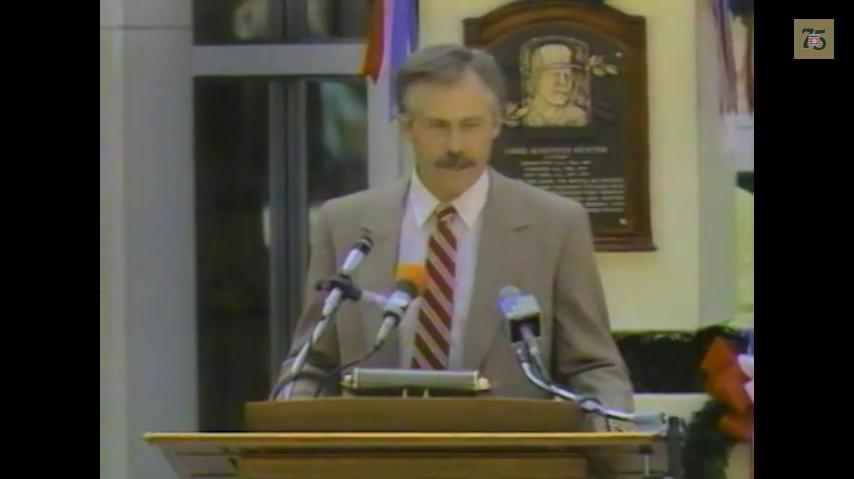 Catfish Hunter 1987 Hall of Fame Induction Speech