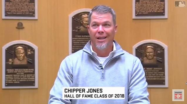 Chipper Jones tours the Hall of Fame