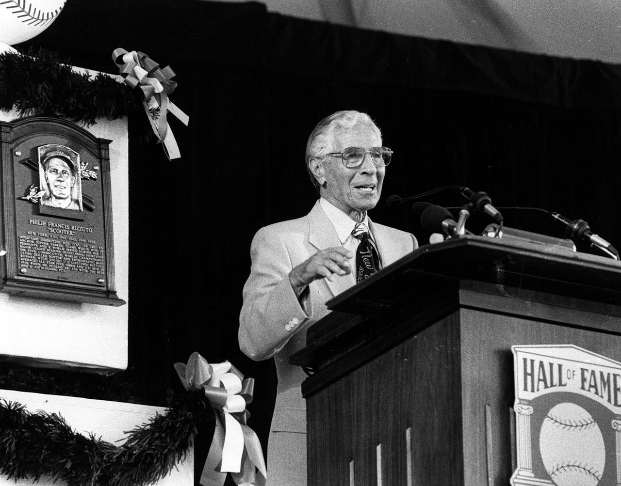 Phil Rizzuto 1994 Hall of Fame Induction Speech
