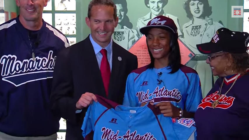 Little League World Series Pitching Sensation Mo'ne Davis Donates Her Jersey to The Hall of Fame.