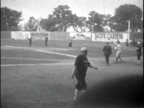 Babe Ruth & Lou Gehrig Footage from 1927 Postseason Tour